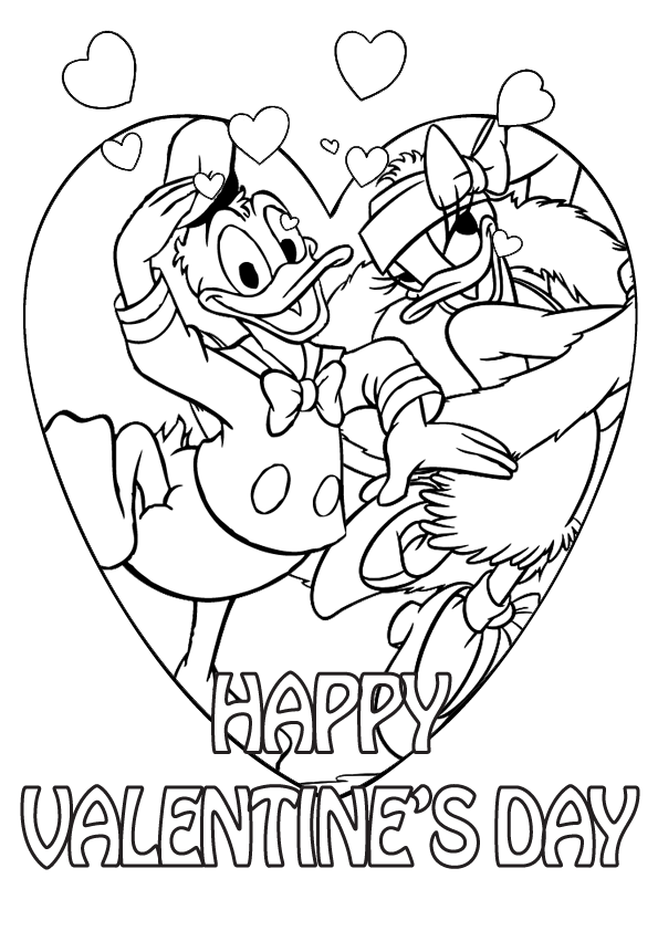 free disney valentine coloring pages - photo#32