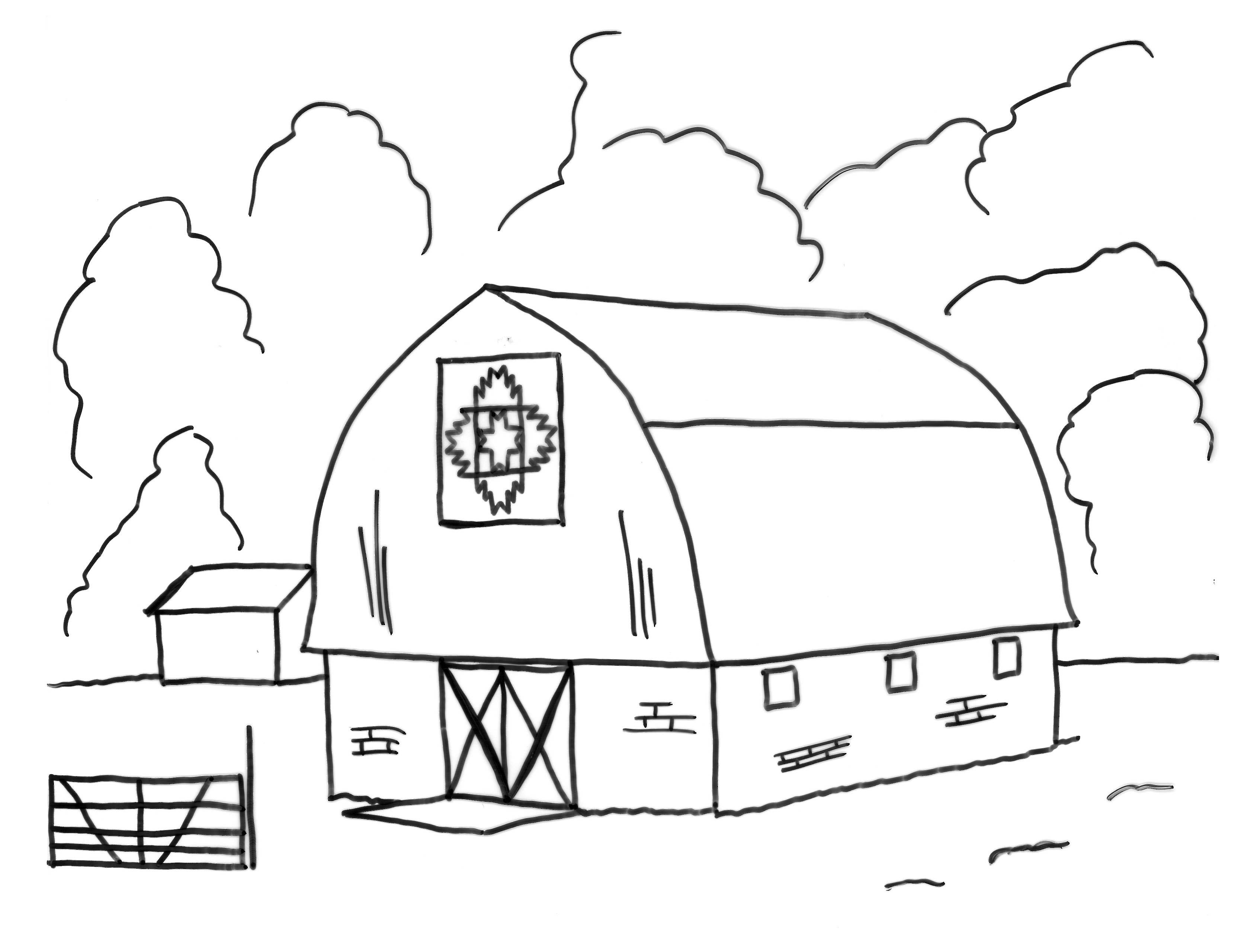 Barn Coloring Pages To Print AZ Coloring Pages