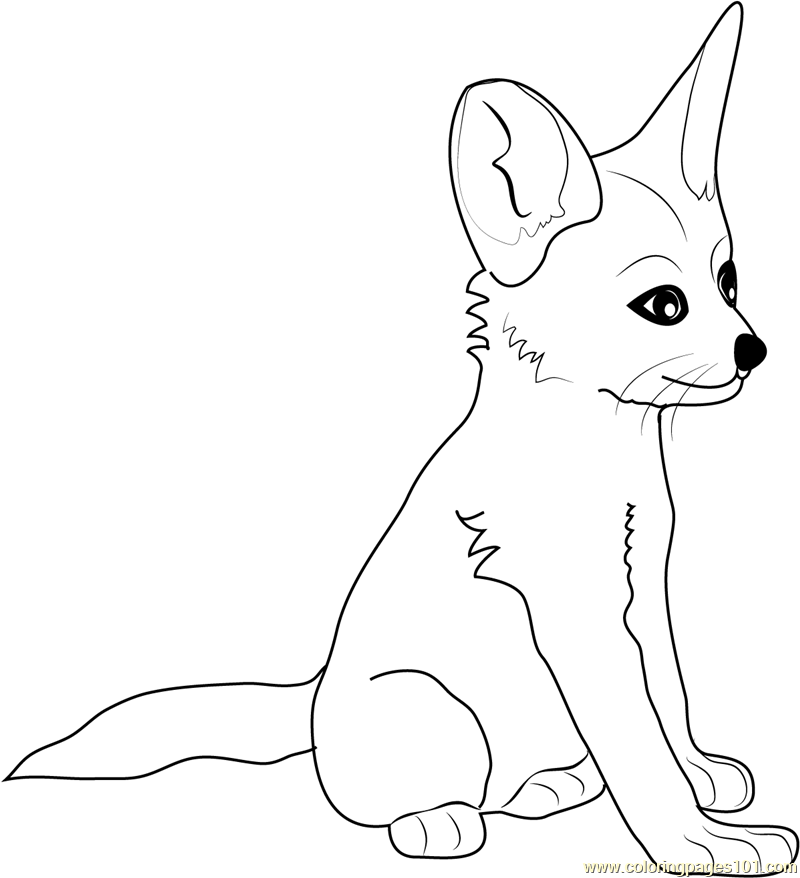 Cute Baby Fox Coloring Pages Coloring Home Fox Coloring Pages