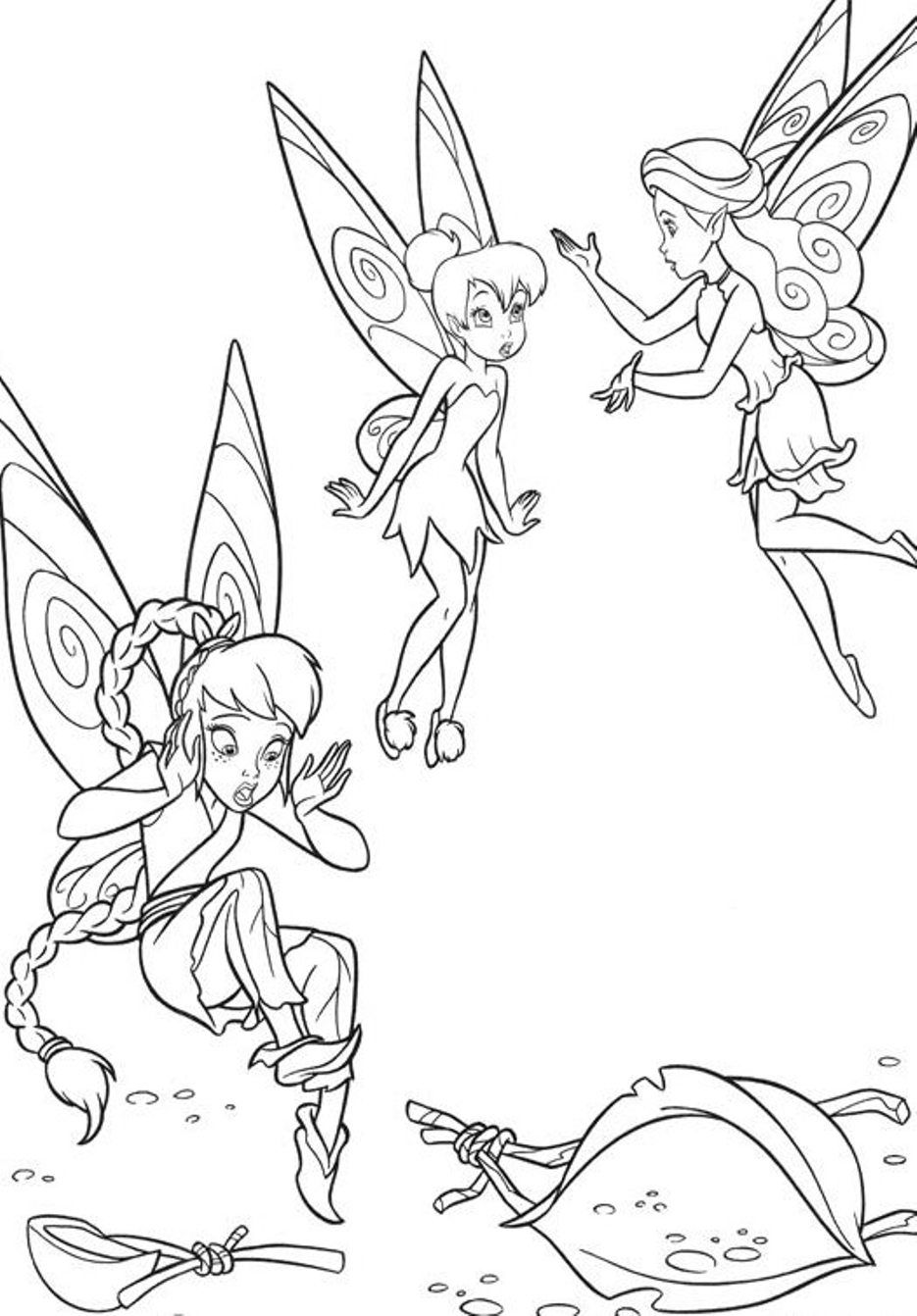 Tinkerbell And Friends Coloring Page
