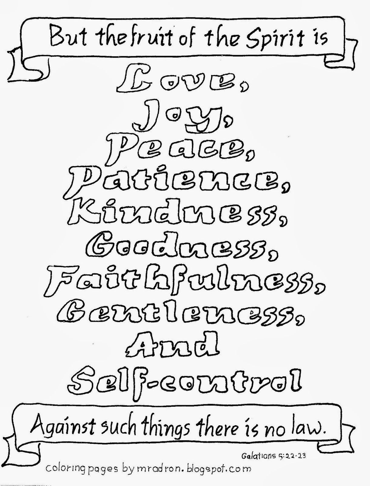 Free Fruit The Spirit Coloring Pages Coloring Home