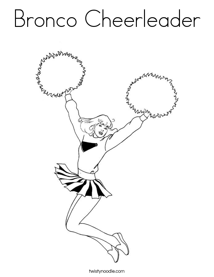 Bronco Coloring Page - Coloring Pages for Kids and for Adults