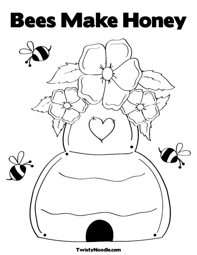 Coloring Pages Of Honey Bees