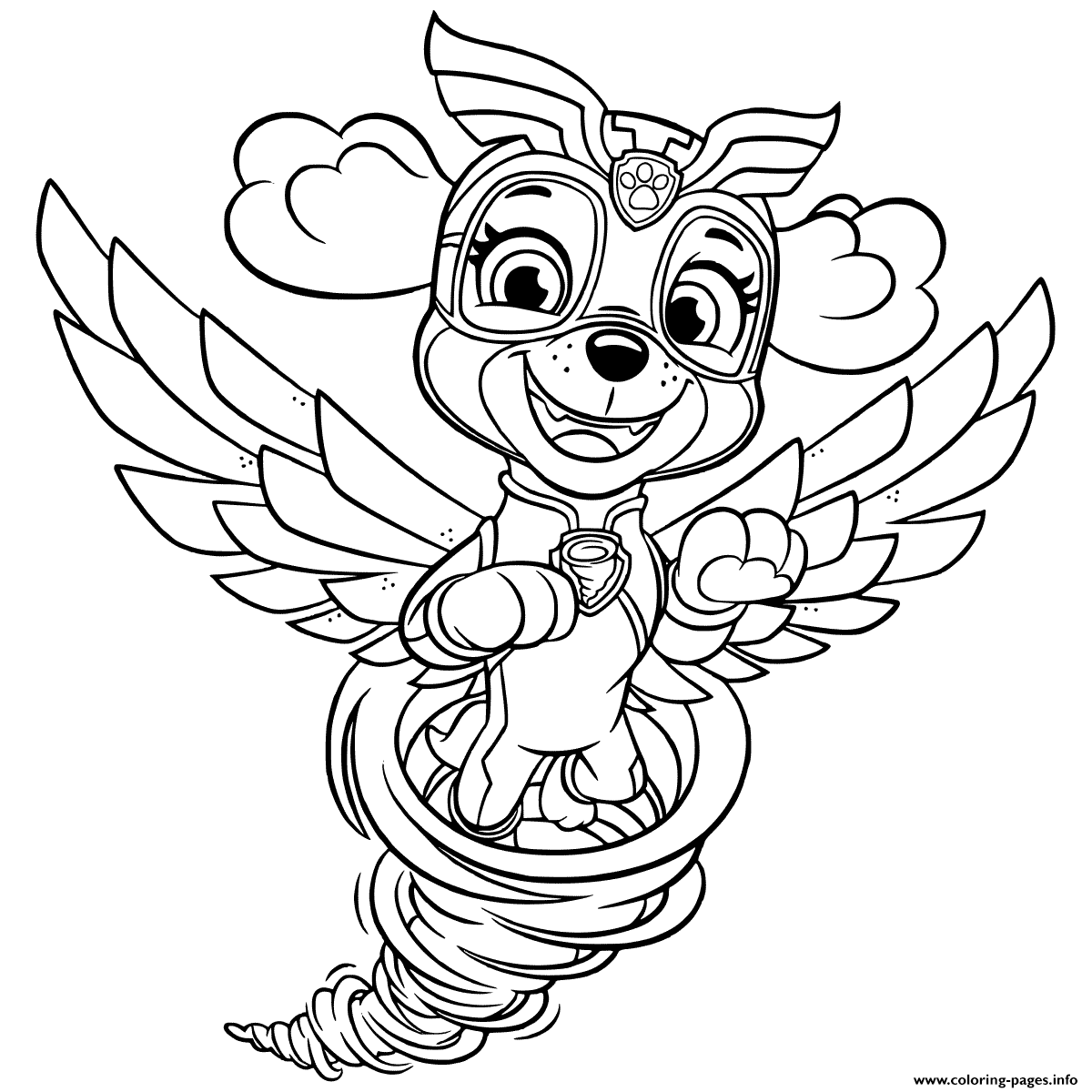 Mighty Pups Coloring Pages - Coloring Home