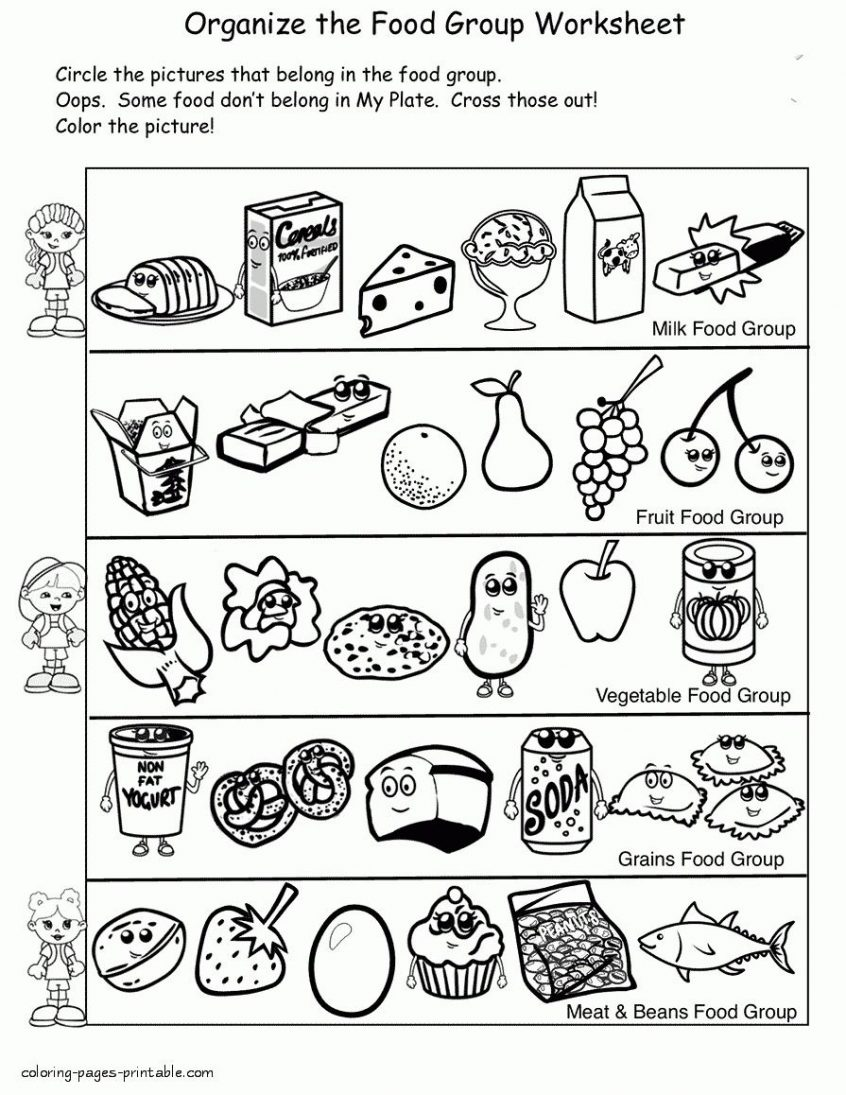 Food Group Coloring Pages Food Pyramid ...communiti.net