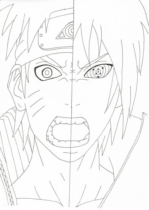 Naruto Coloring Pages | Naruto drawings, Naruto, Itachi uchiha art
