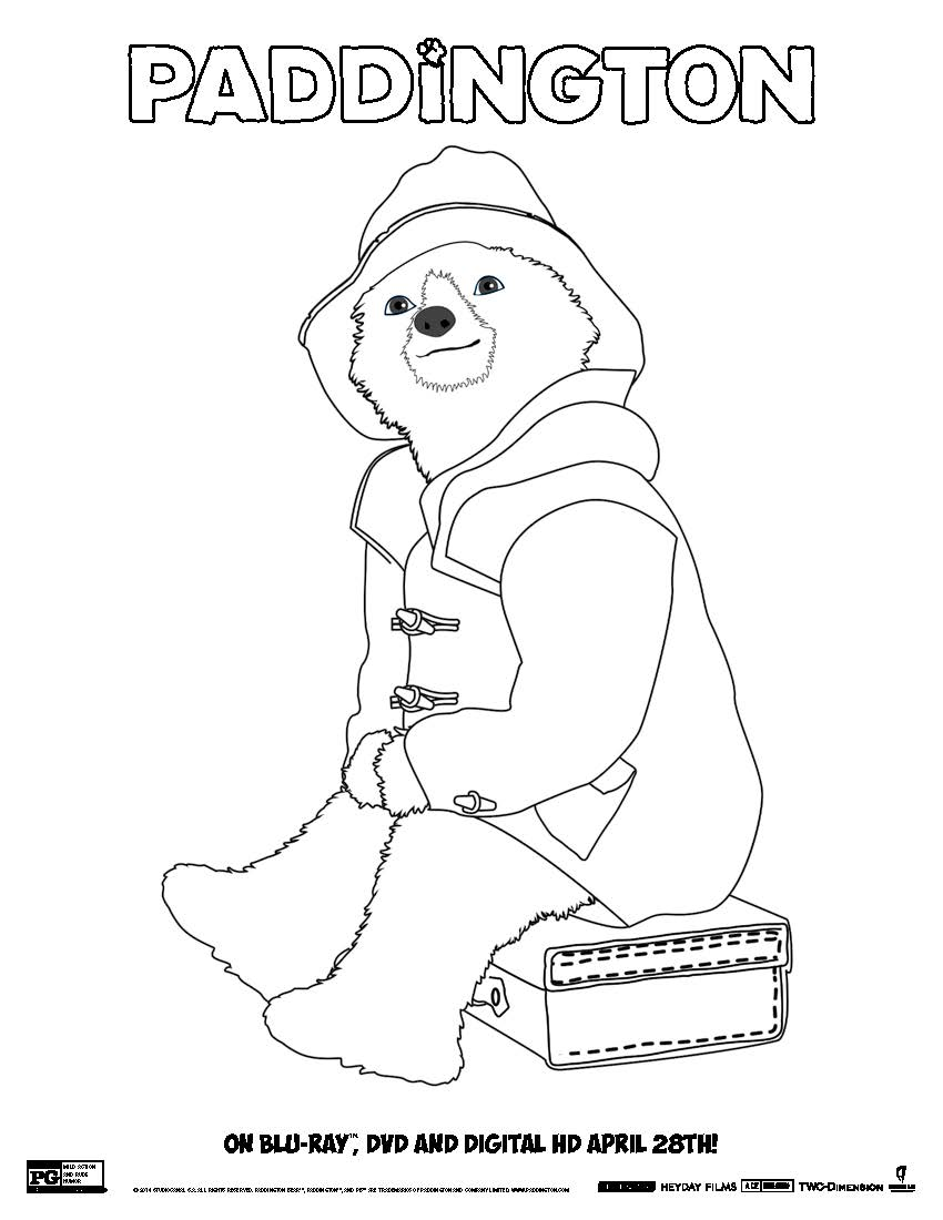 FREE DOWNLOAD! Paddington Bear Coloring Pages - Voices from the Ville