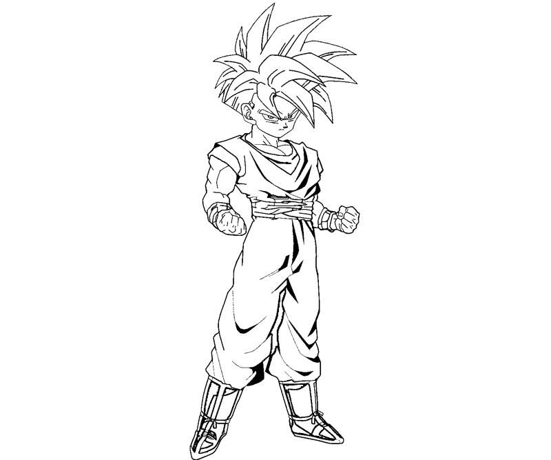 6 Pics Of Gohan Coloring Pages