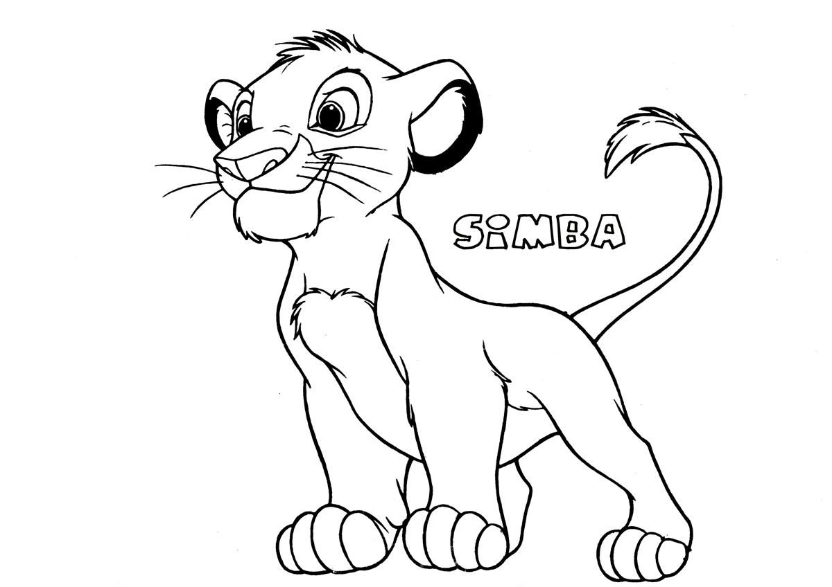 High Resolution Lion Coloring Page