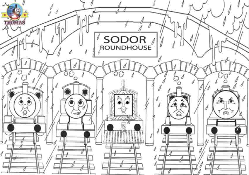 How To Color Thomas The Train Coloring Sheet