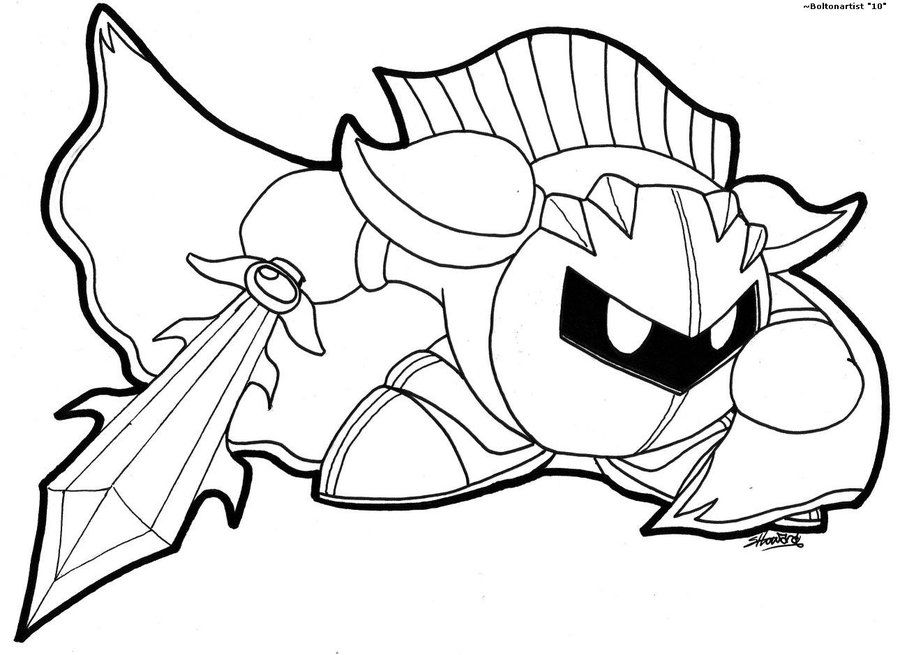 foto de Meta Knight Coloring Pages To Print - Coloring Home