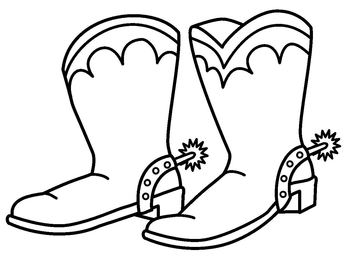 Cowboy Boots Coloring Page | GuthrieMedia