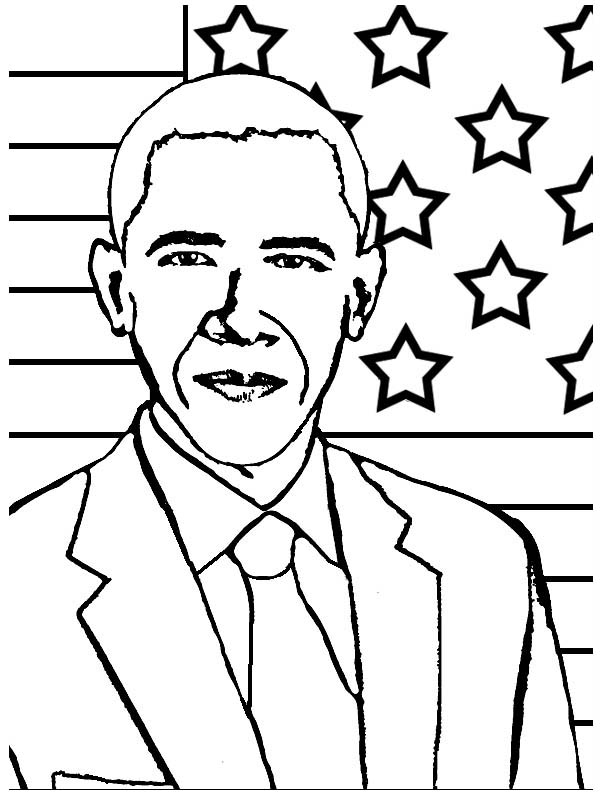 president obama coloring pages free - photo#17