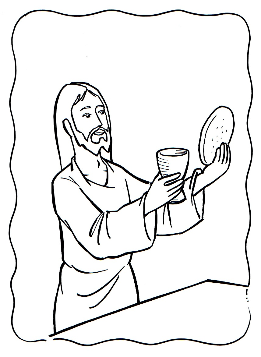 Great The Last Supper Coloring Page 94 With Additional Coloring ...