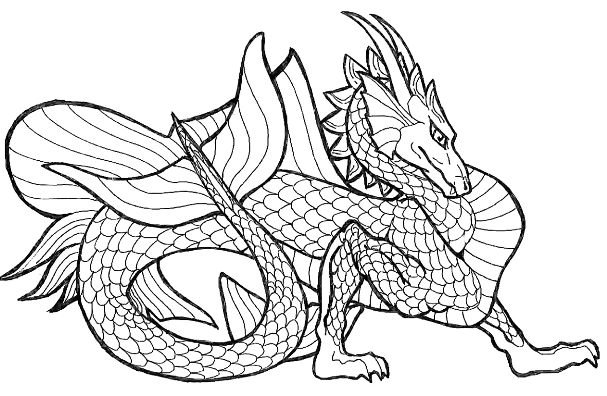 Printable Chinese Dragon Coloring Pages Me Sheets Adult