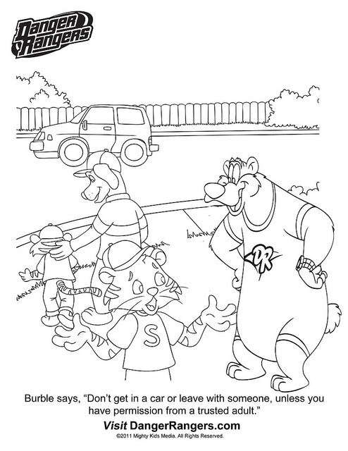 stranger danger coloring pages printables - photo#25