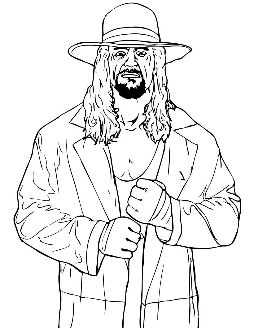 WWE Coloring Pages and Book | UniqueColoringPages