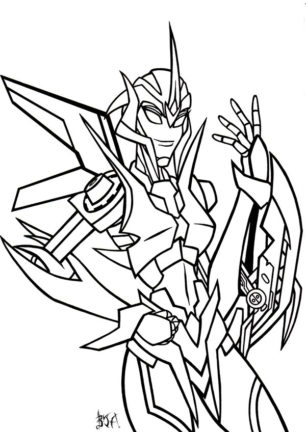 Transformers Prime Starscream Coloring Pages  Printable
