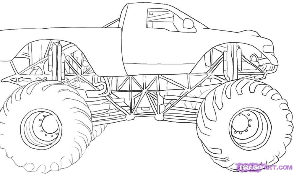 monster jam 2013 coloring pages - photo#17