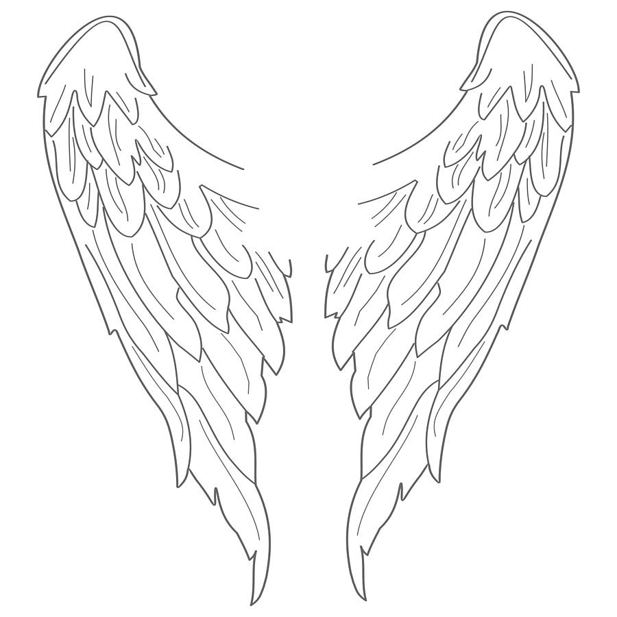 Angel Wings Coloring Pages Best Image Coloring Page