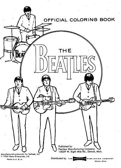 The Beatles Coloring Pages - Coloring Home