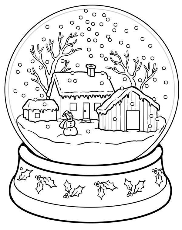 Snow Globe | Worksheet | Education.com | Coloring pages winter, Christmas coloring  pages, Holiday worksheets