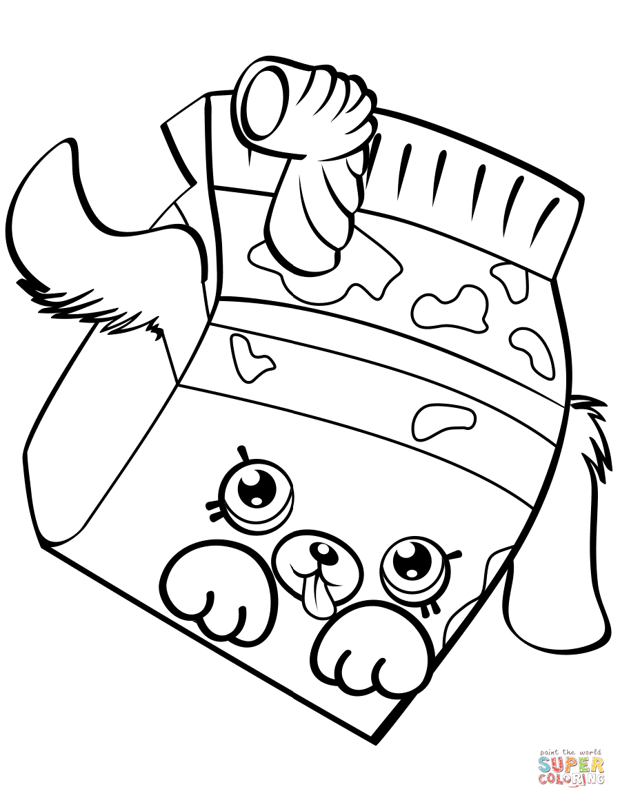 Milk Bud Shopkin coloring page | Free Printable Coloring Pages
