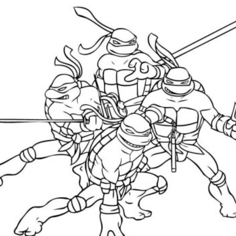 teenage mutant ninja turtle coloring book high quality coloring
