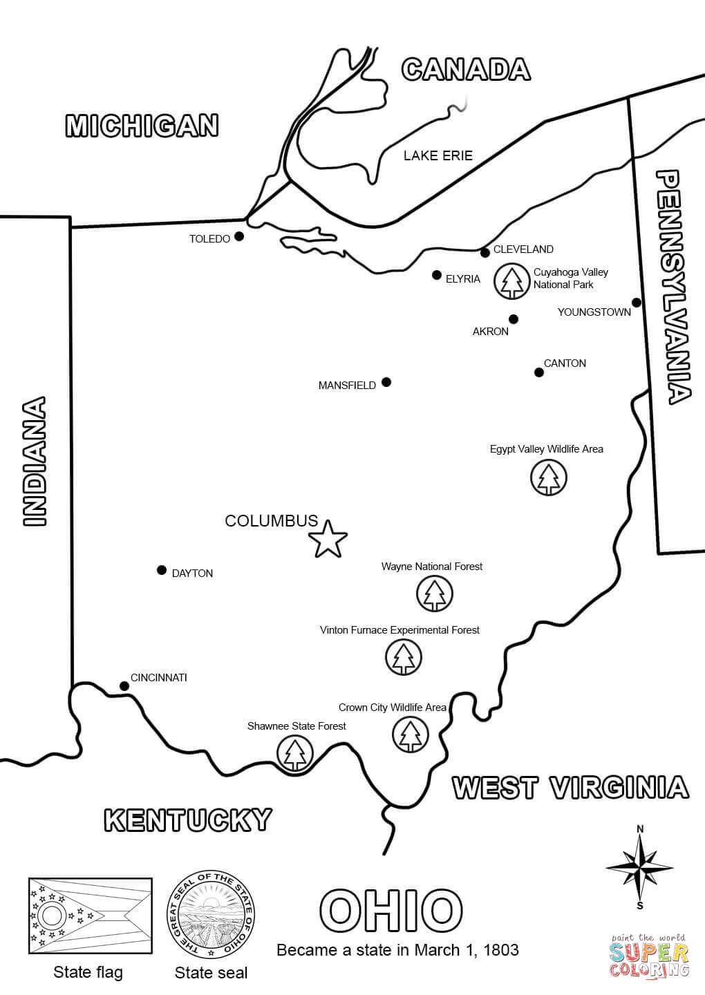 ohio coloring pages - photo#2