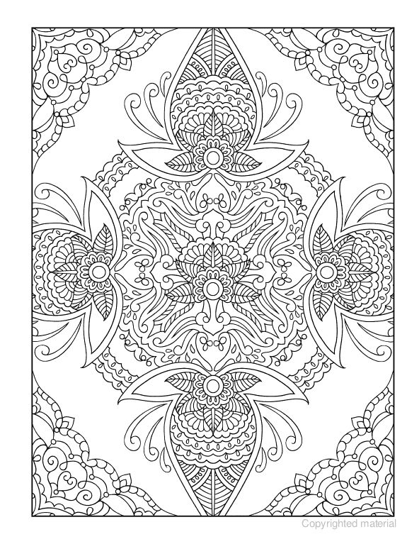 Mehndi Coloring Pages Coloring