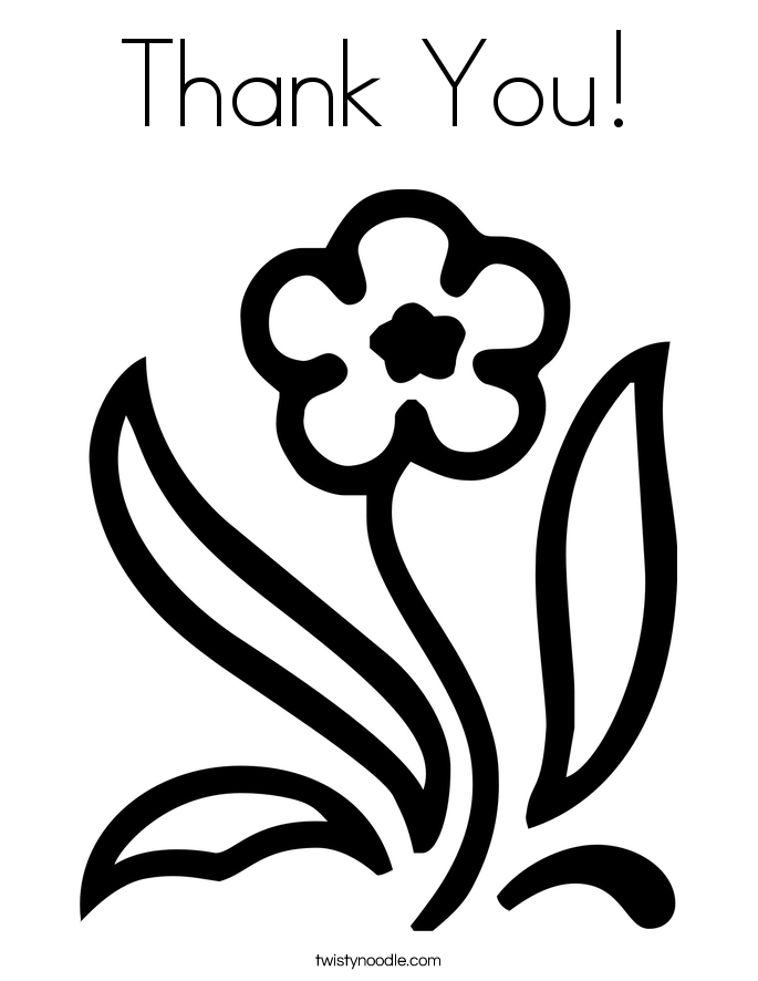 Thank You Coloring Pages For Kids Coloring Home