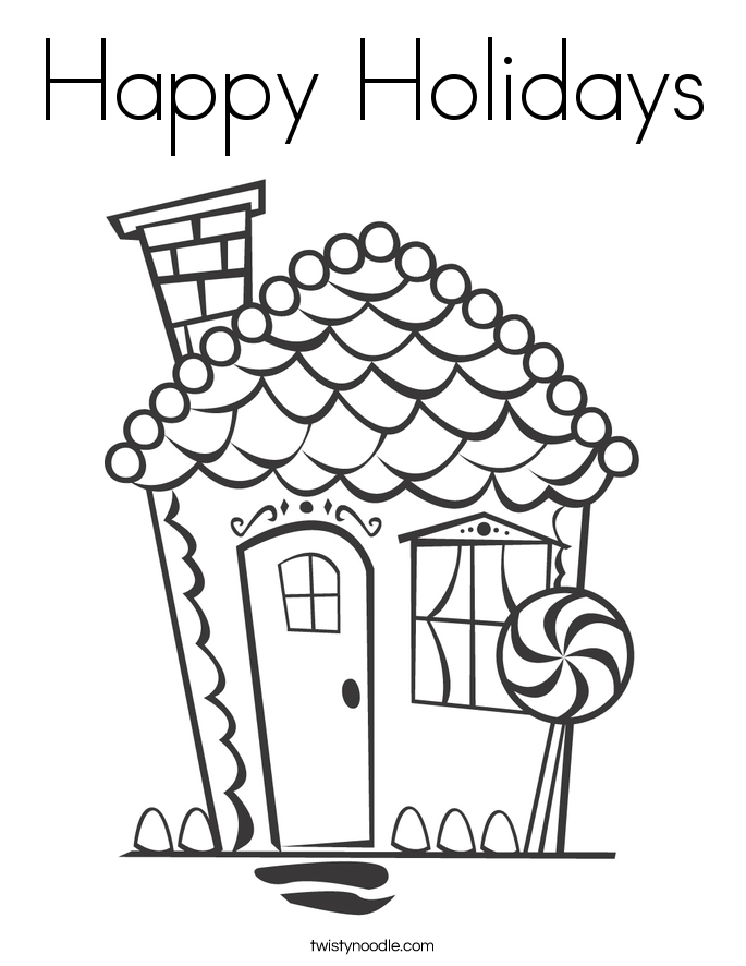 happy holidays coloring pages home