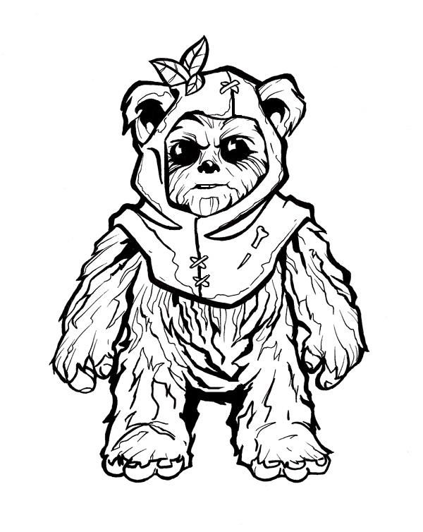 Coloring Pages Ewoks