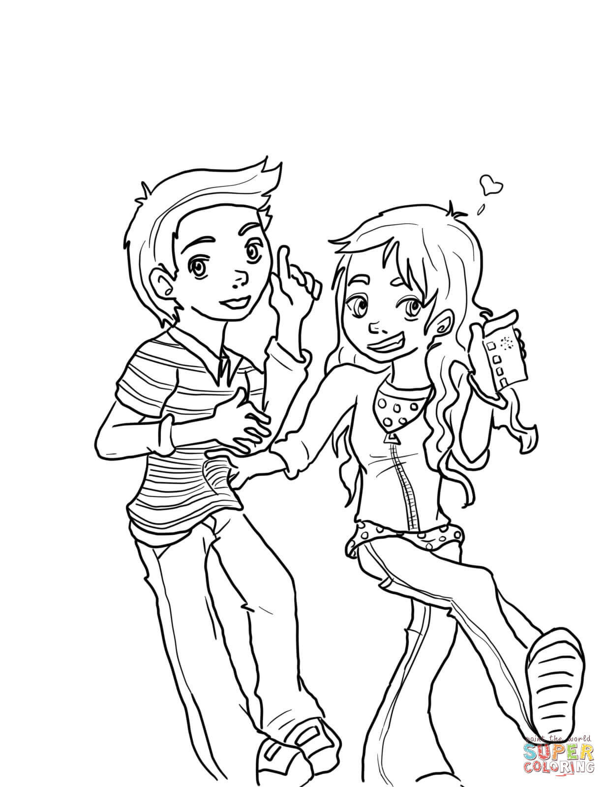 iCarly coloring page   1600x1232