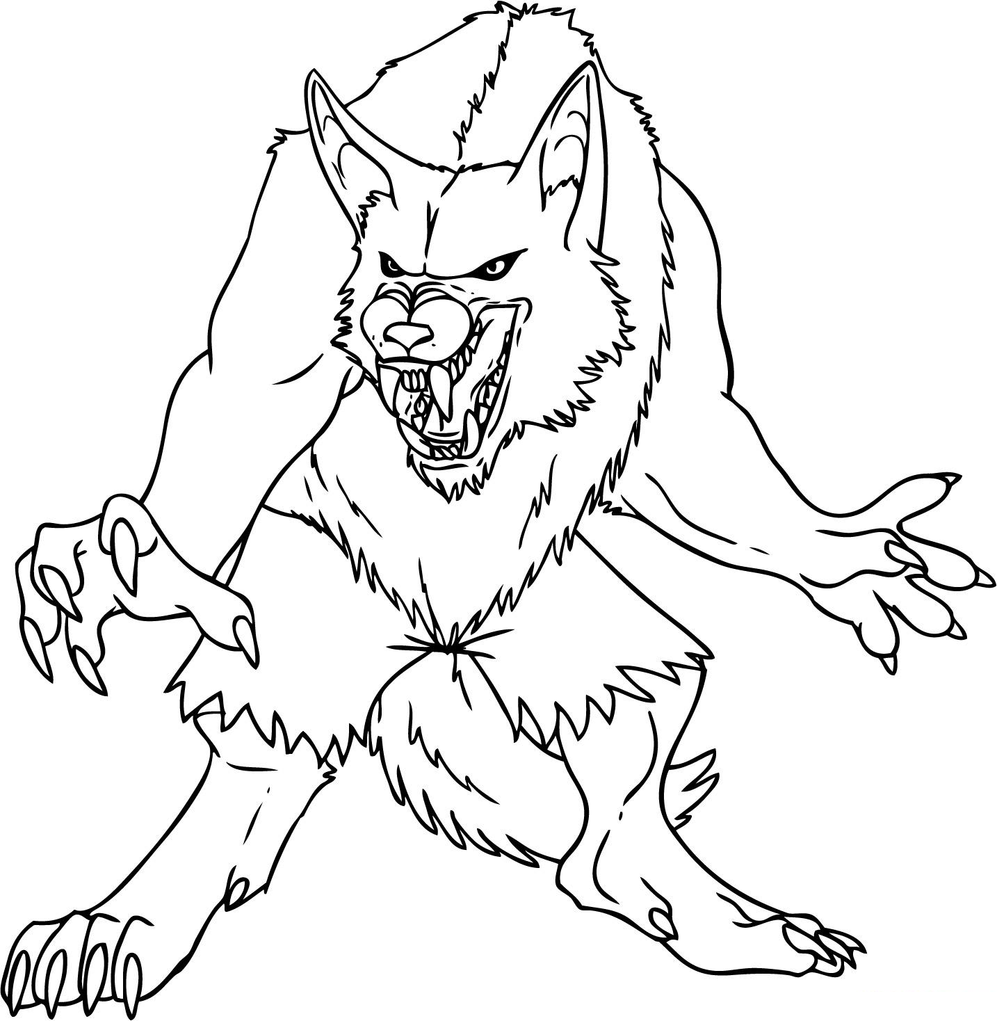 Werewolf Coloring Page Coloring Home