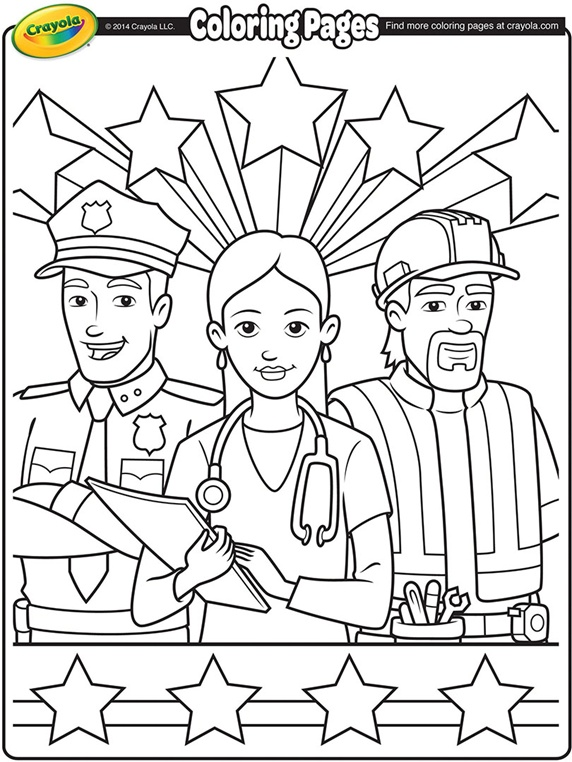 Galerry coloring page for labor day