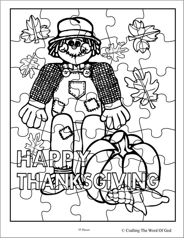 Thanksgiving Coloring Pages Puzzles - Coloring Home