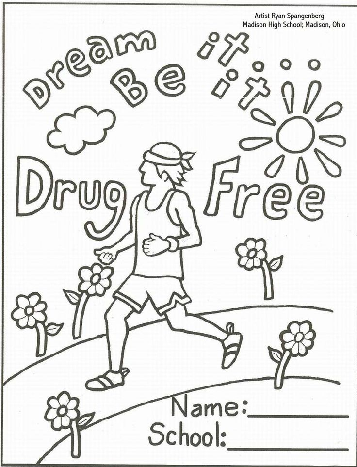 Red Ribbon Week Coloring Page Coloring Home
