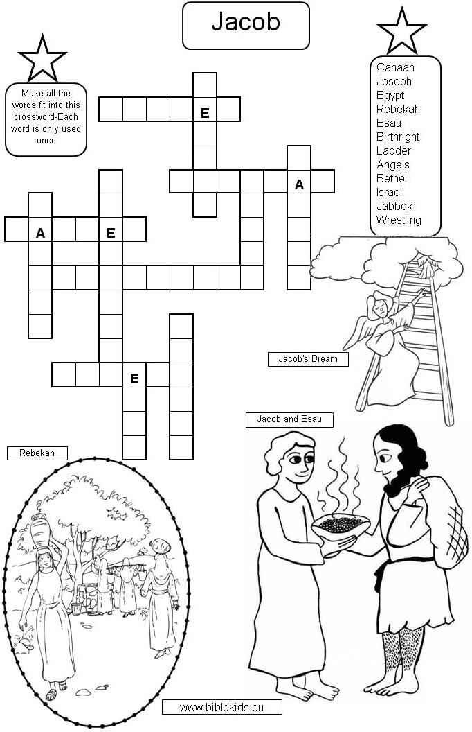 Isaac And Esau Coloring Pages