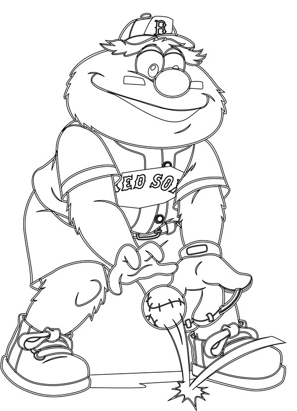 Red Sox Coloring Page
