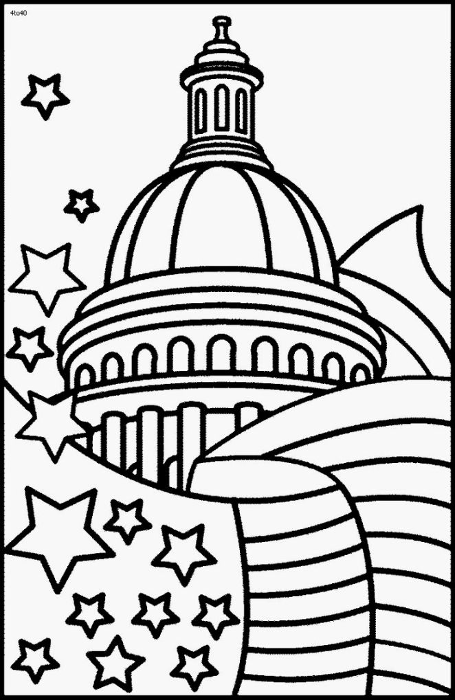 Coloring Pages Of The White House Coloring Home