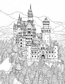 Disney Castle Coloring Pages   Castle coloring page, Disney ...   291x227