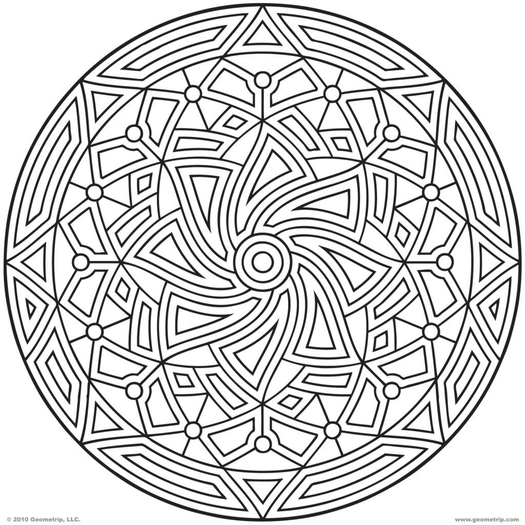 Printable Coloring Pages Geometric Designs - Coloring Home