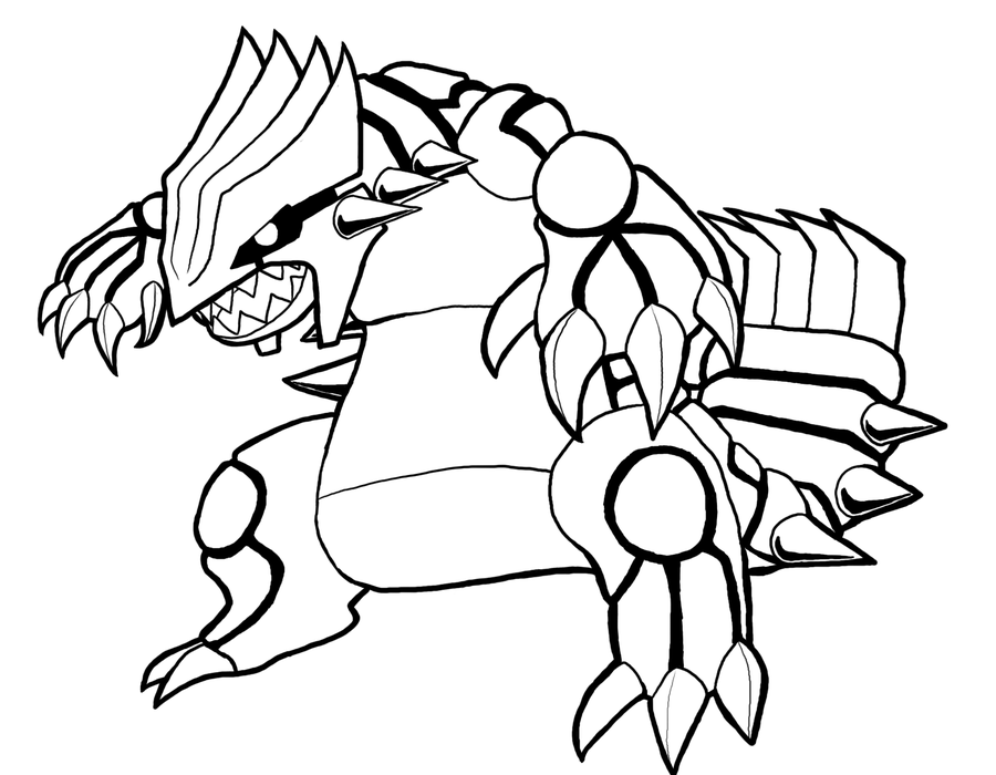 Primal Kyogre Coloring Page groudon coloring page - coloring home