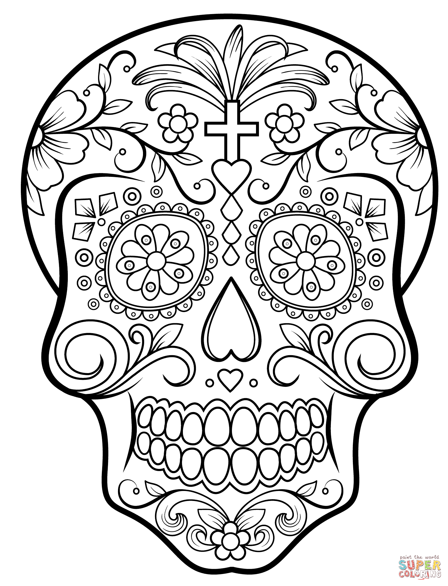 - Sugar Skull Coloring Pages - Coloring Home