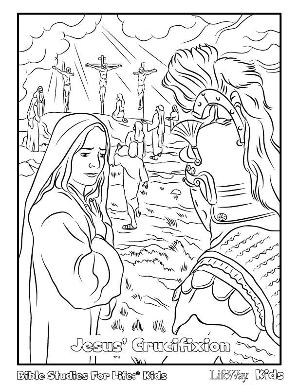 Crucifixion Coloring Pages Coloring Home
