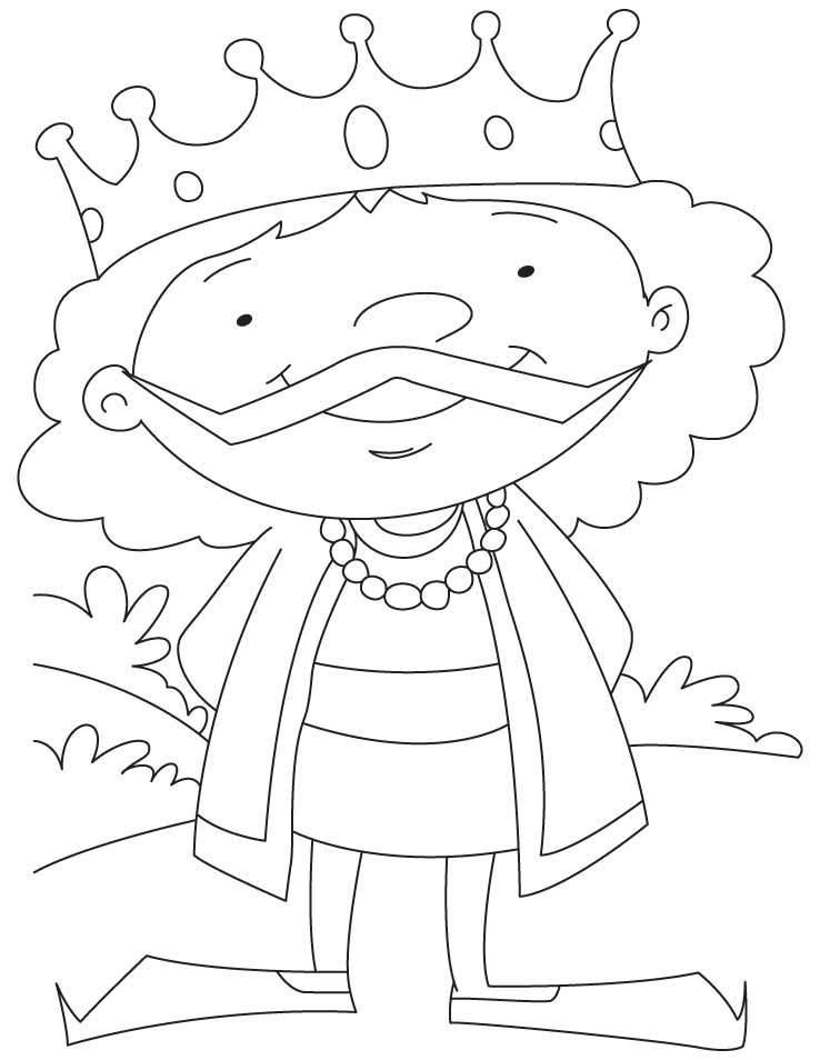 A Cartoon King Coloring Pages
