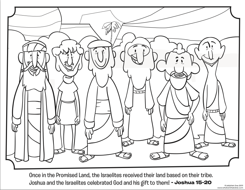 Joshua And The Promised Land Coloring Page - Coloring Home