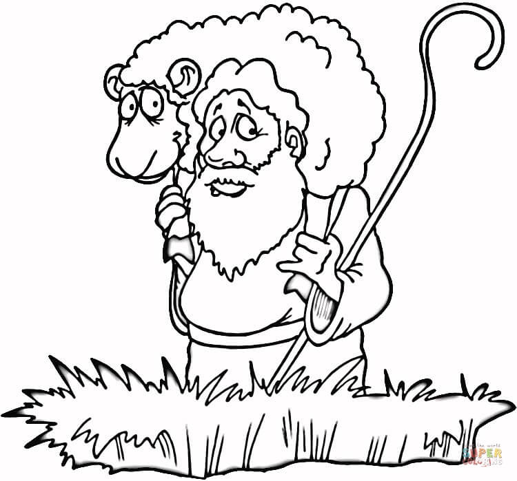 Coloring Pages Of The Lost Sheep Coloring Home