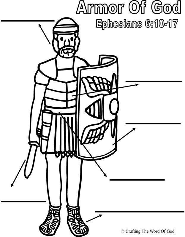 photograph relating to Free Printable Pictures of the Armor of God identified as Free of charge Coloring Web pages For Armor Of God - Coloring Household
